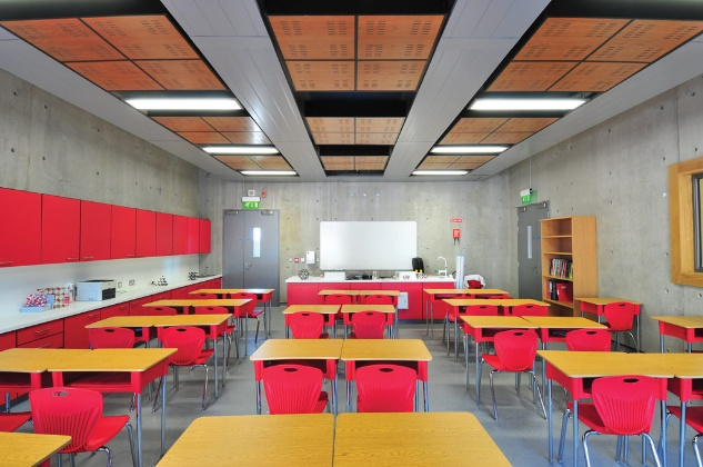 Acoustic ceiling in a classroom at Clongowes Wood College.