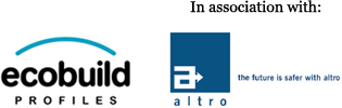 Ecobuild Profiles and Altro logos