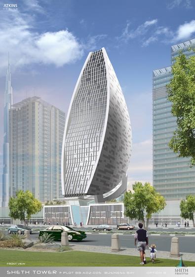 buildings in dubai. tower in Dubai centre