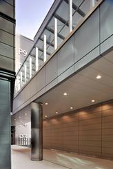 A mixture of  ceilings, columns and cladding were designed and installed by SAS Project Management