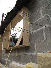 Formwork around the windows