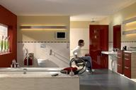 When specifying wetrooms for disabled use, it is essential to ensure that the floor surface can be gripped by tyred wheels