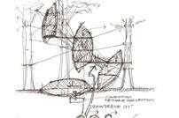 Treehouse sketch by Ewen Miller