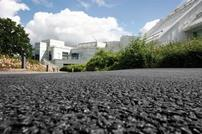 Tarmac's asphalt and concrete permeable pavements can be installed as part of a sustainable drainage system