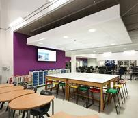 Over 2,000m² of various ROCKFON acoustic products were installed at Phoenix Academy in Telford