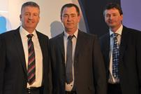 Paul Roughan, sales director at AkzoNobel; Kenny Hallsall, supervisor painter at Bagnalls; Duncan Lochhead, judge and commercial marketing manager at AkzoNobel