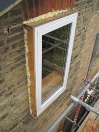 Plywood lining box and triple glazed window