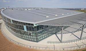 Standing seam roofing magazine features building for International swimming pool cardiff