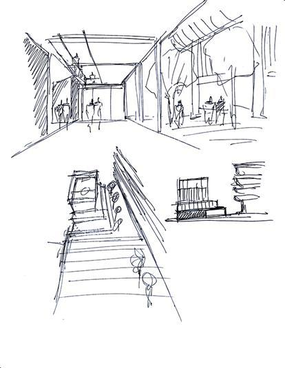 Great Buildings Drawing   Bailey House  Case Study House No