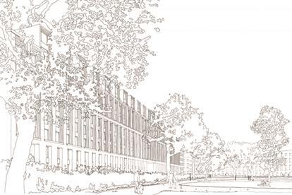 Cartwright Gardfens sketch by Joseph Little at Maccreanor Lavington Architects