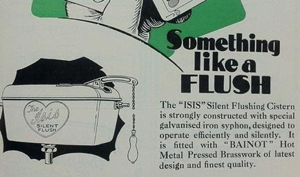 archive advert - toilet cistern - small
