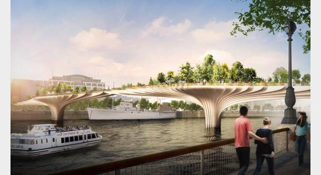 Heatherwick designs London garden bridge Online News Building